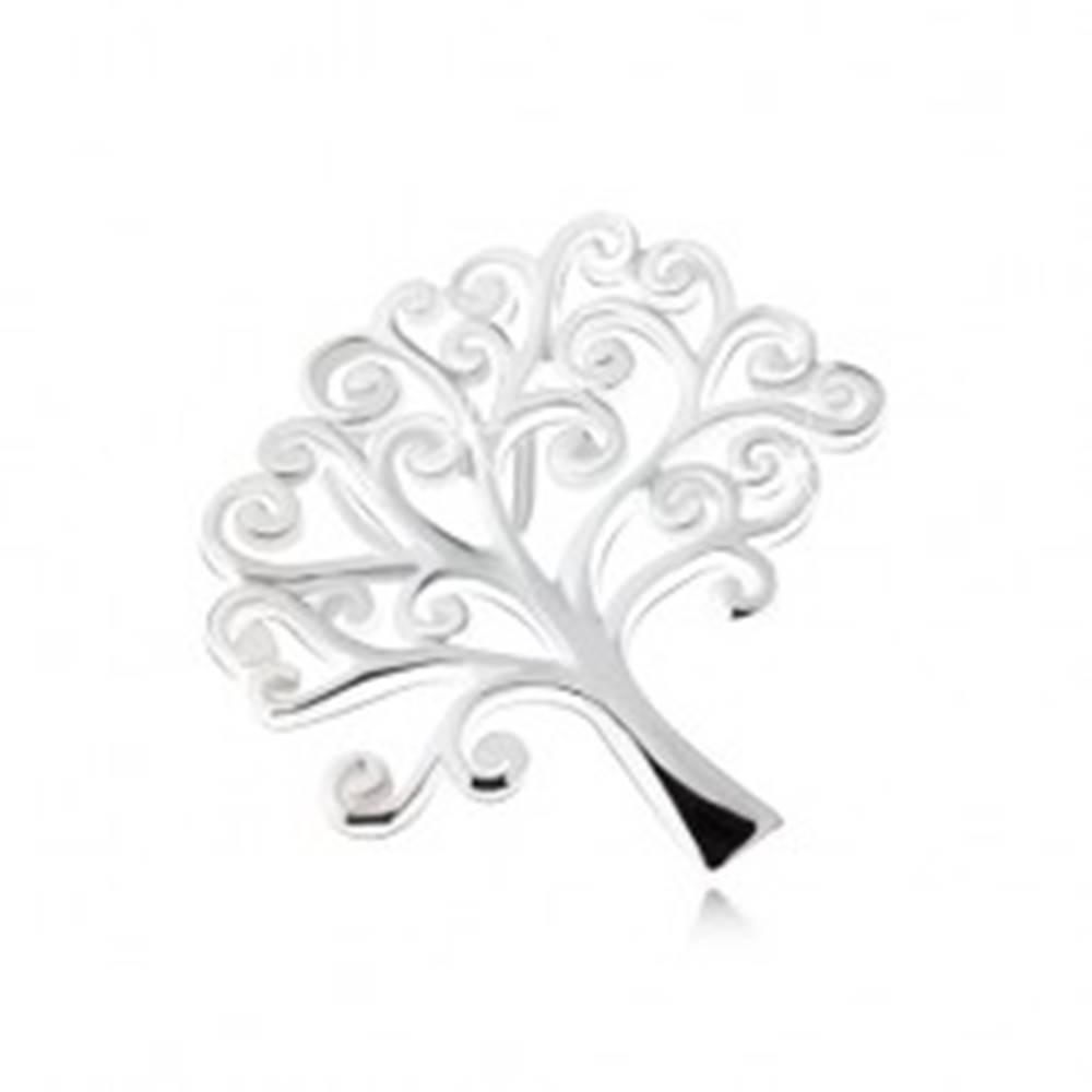 Šperky eshop Lesklý prívesok stromu života, striebro 925