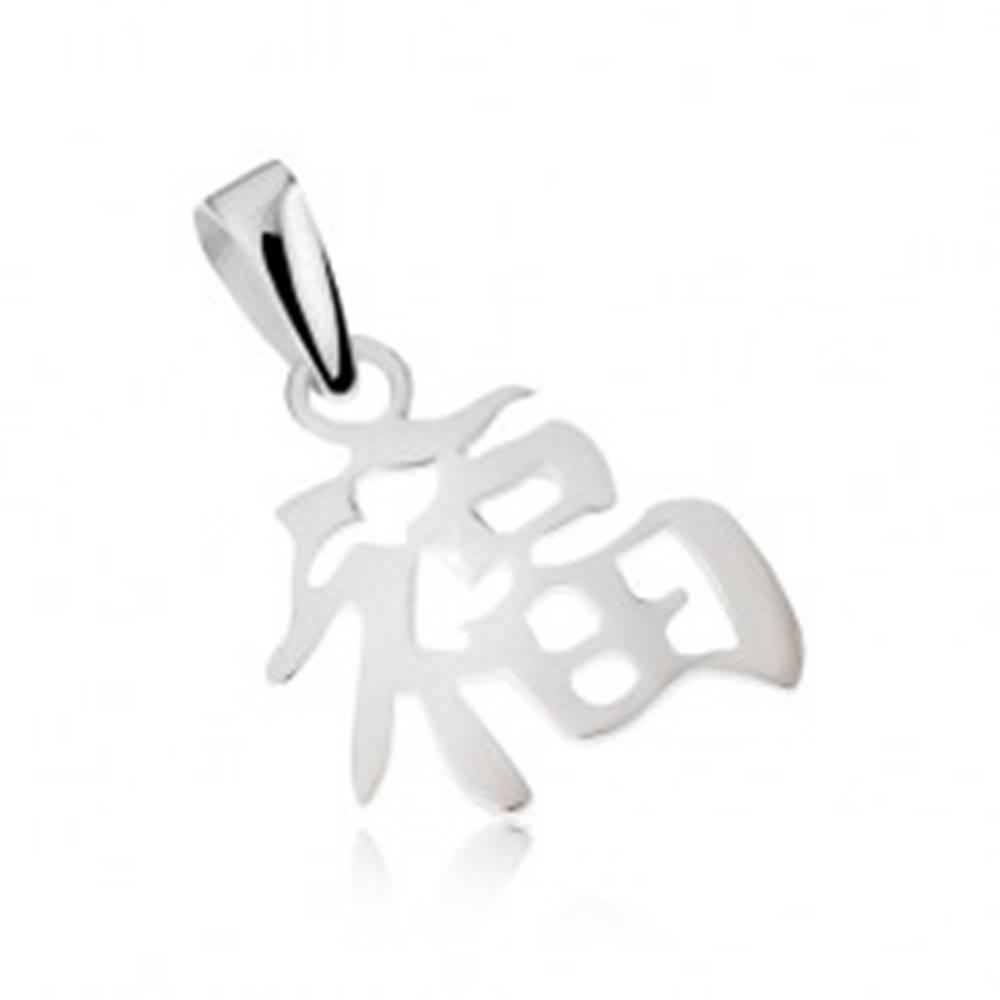 Šperky eshop Prívesok - striebro 925, čínsky symbol šťastia, lesklý povrch