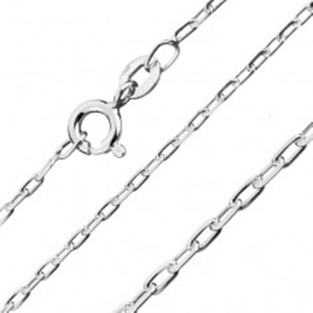 Šperky eshop Strieborná retiazka 925 - lesklé hladké obdĺžniky, 1,5 mm