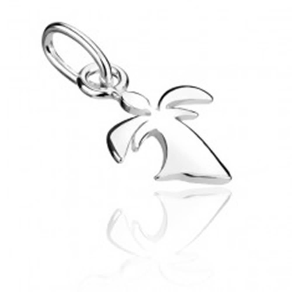 Šperky eshop Strieborný prívesok 925 - malý anjelik v šatách
