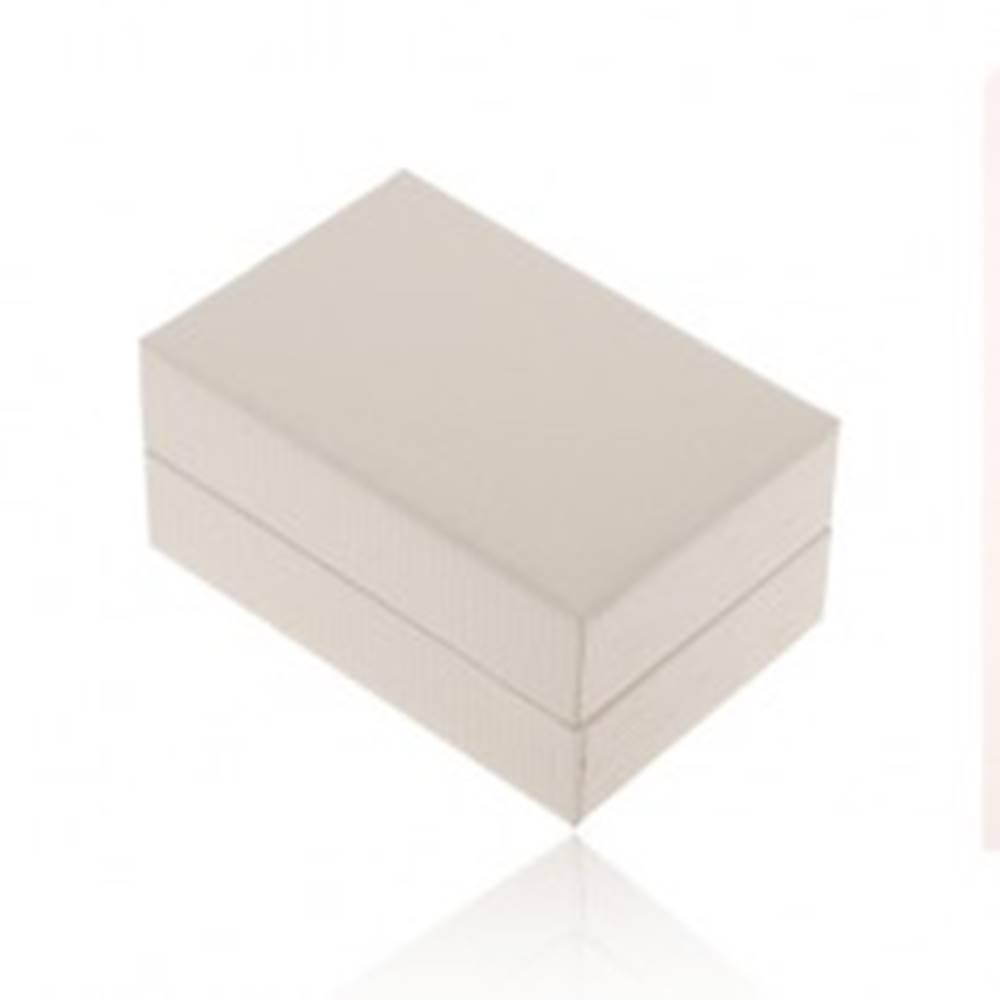 Šperky eshop Biela darčeková krabička na prsteň alebo náušnice, ryhovaný povrch