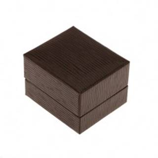 Darčeková krabička na prsteň, prívesok alebo náušnice, tmavohnedá farba, ryhy