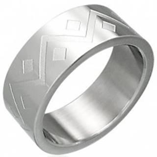 Prsteň z chirurgickej ocele geometrický vzor - Veľkosť: 54 mm