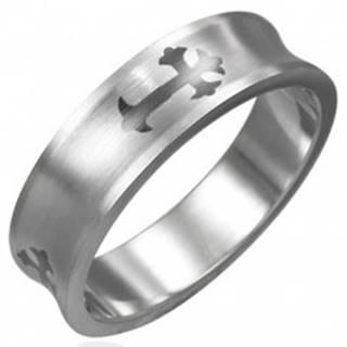 Prsteň z chirurgickej ocele kríž - Veľkosť: 51 mm