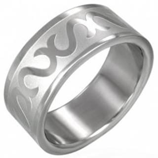Prsteň z chirurgickej ocele - obrátené S - Veľkosť: 54 mm