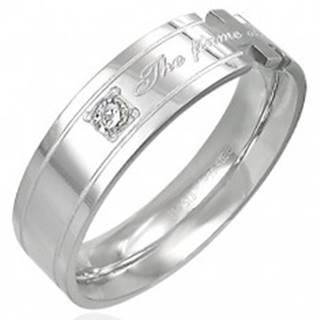 Prsteň z ocele s nápisom - The flame of our love! - Veľkosť: 52 mm