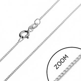 Retiazka zo striebra 925 - kolmo uchytené lesklé kocky, 0,75 mm