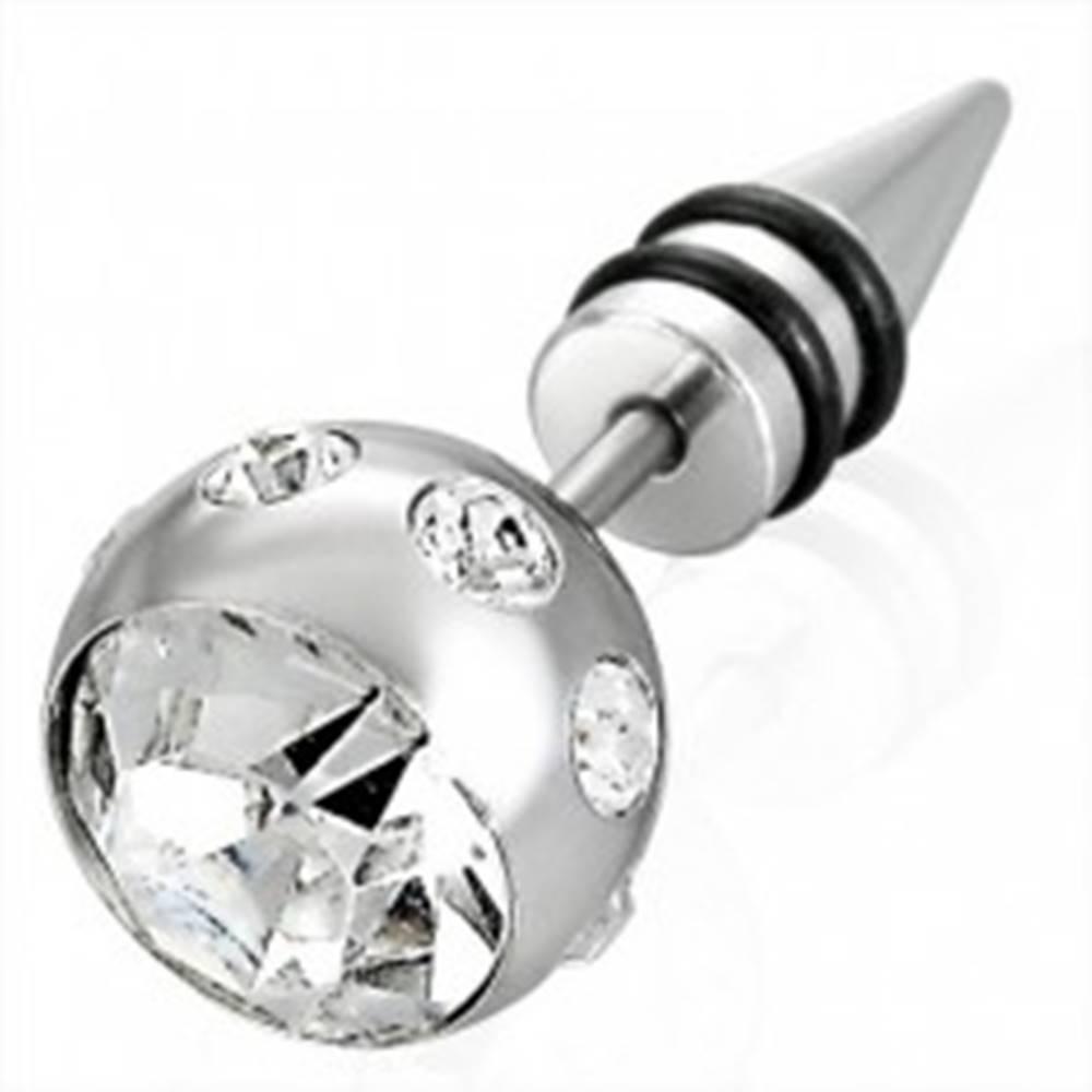 Šperky eshop Falošný piercing veľká guľa so zirkónom