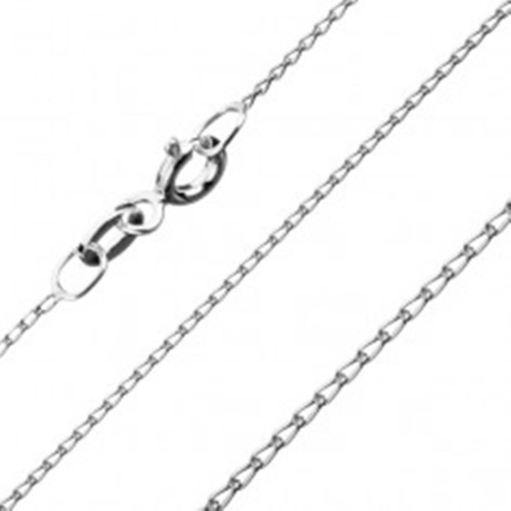 Šperky eshop Retiazka zo striebra 925 - zaoblené podlhovasté očká, 0,8 mm