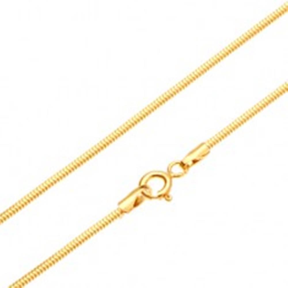 Šperky eshop Zlatá retiazka 585 - články usporiadané do vzoru hadej kože, 450 mm