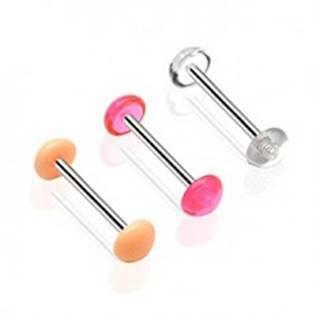 Piercing jazyk - jednofarebná polguľa - Farba piercing: Broskyňová svetlá