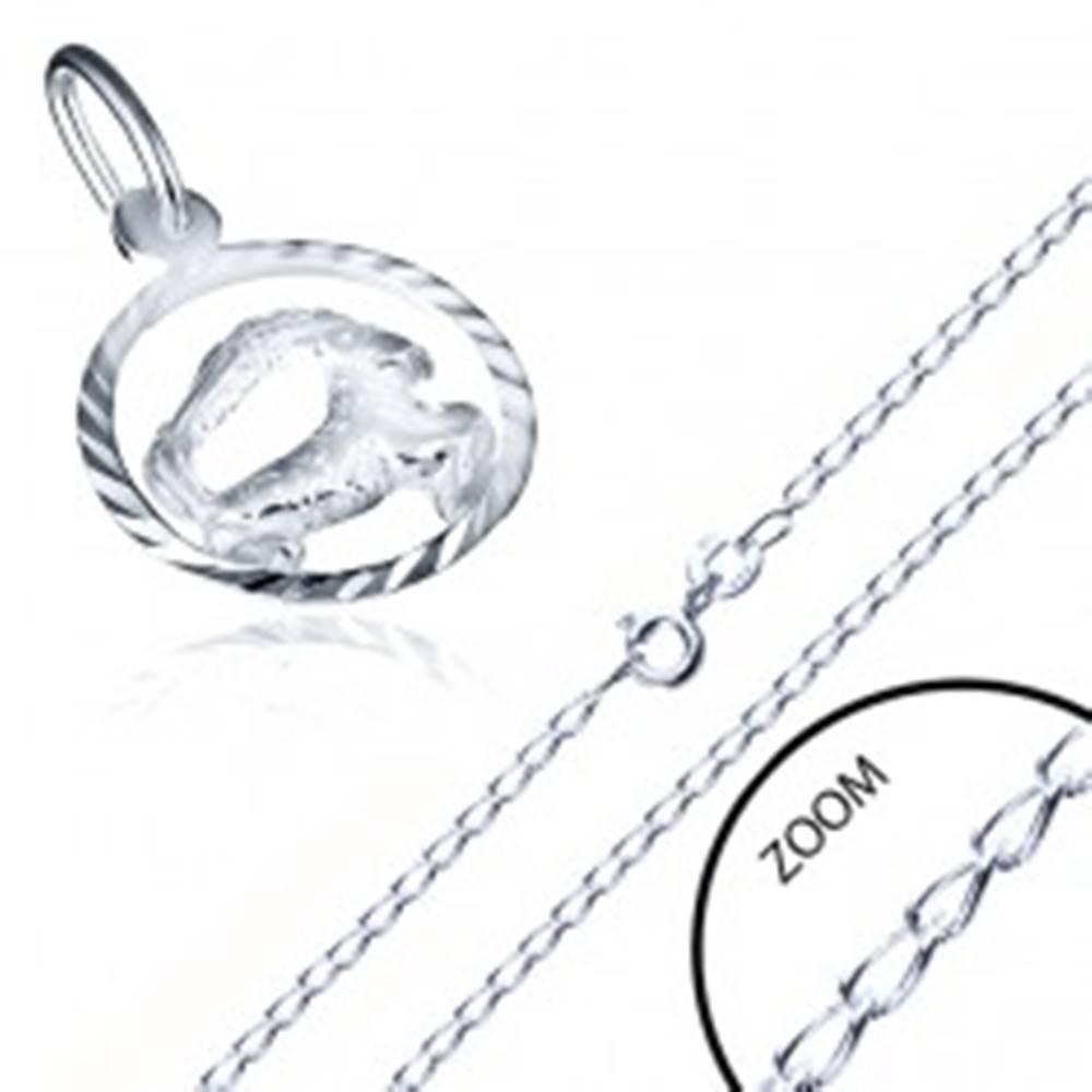 Šperky eshop Náhrdelník so znamením zverokruhu KOZOROŽEC, striebro 925