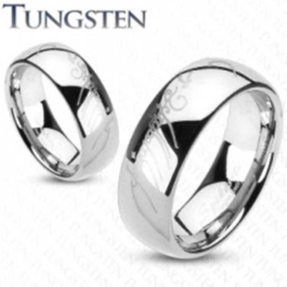 Šperky eshop Wolfrámový prsteň - hladká lesklá obrúčka, Pán prsteňov - Veľkosť: 47 mm