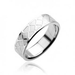 Prsteň z chirurgickej ocele - mozaikový vzor - Veľkosť: 59 mm