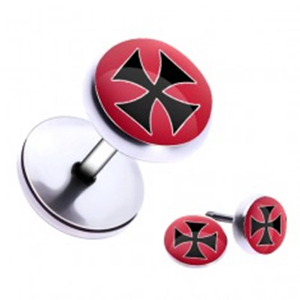 Šperky eshop Oceľový fake piercing do ucha - maltézsky kríž