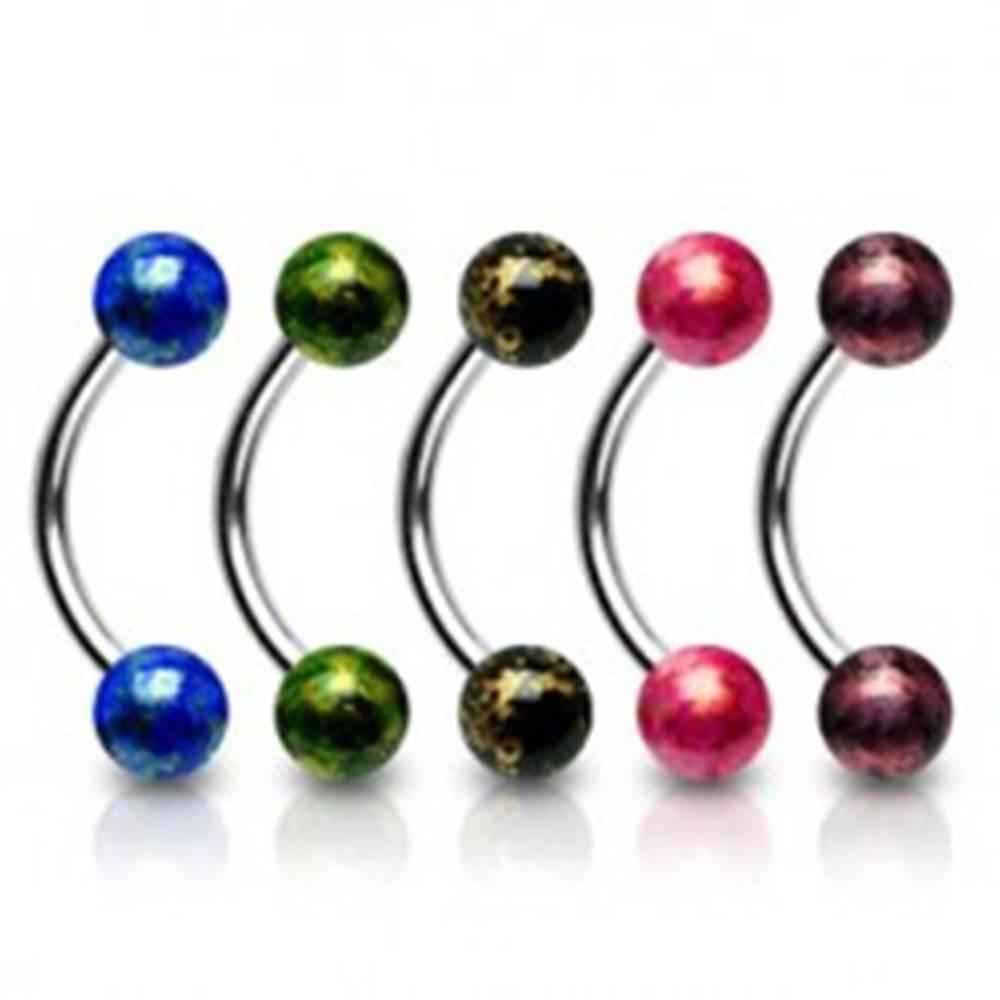 Šperky eshop Piercing do obočia akrylové guličky - Farba piercing: Červená