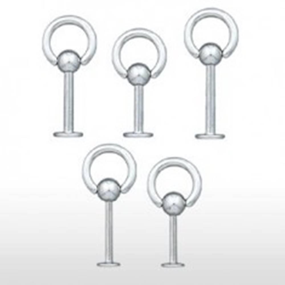 Šperky eshop Piercing do pery a brady - oceľový krúžok - Rozmer: 1,2 mm x 10 mm