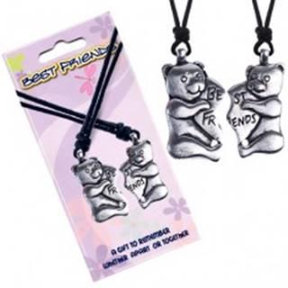 BEST FRIENDS šnúrkové náhrdelníky, mackovia, srdce