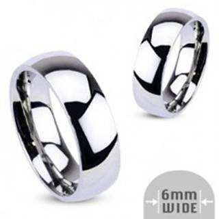 Kovový prsteň - zaoblená obrúčka lesklej striebornej farby - Veľkosť: 48 mm