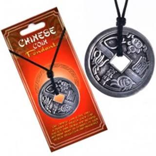 Náhrdelník s príveskom - minca, motív zvierat, čínske znaky