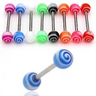 Piercing do jazyka UV tornádo - Farba piercing: Červená