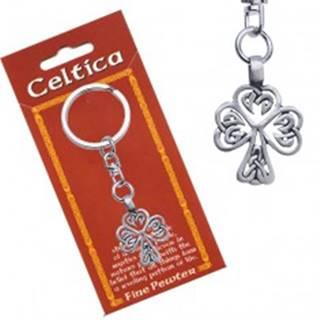 Prívesok na kľúče, kovový, keltský motív stromu