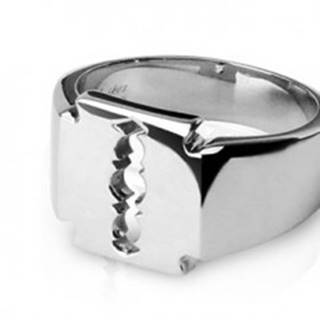 Prsteň z chirurgickej ocele - žiletka - Veľkosť: 59 mm