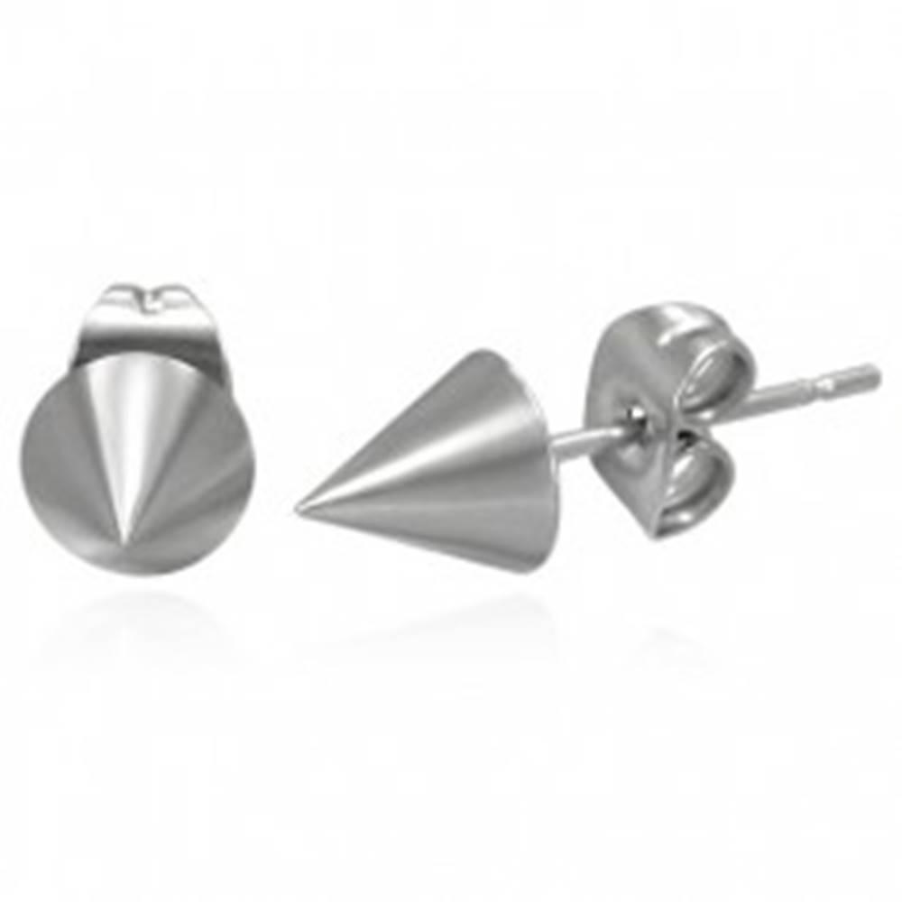 Šperky eshop Náušnice z chirurgickej ocele v tvare kužeľa