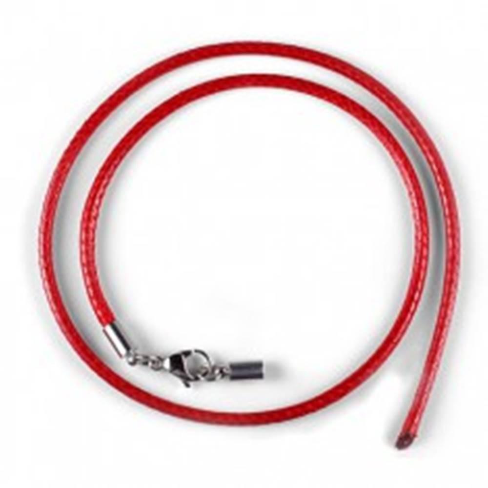 Voskový náhrdelník červený