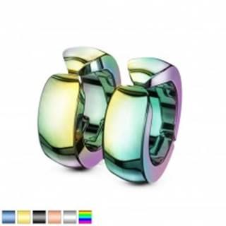 Hladké farebné oceľové náušnice, lesklé klipsňové kruhy - Farba: Čierna