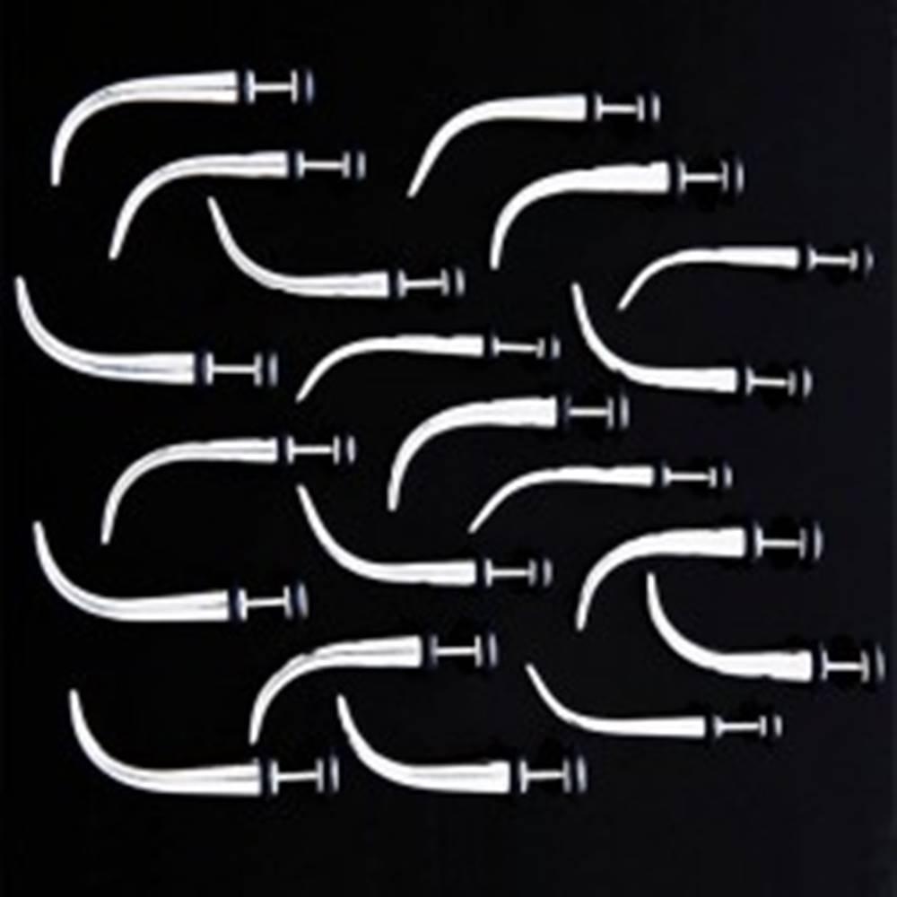 Šperky eshop Falošný oceľový expander s gumičkami - zakrivený - Hlavička: 3 mm