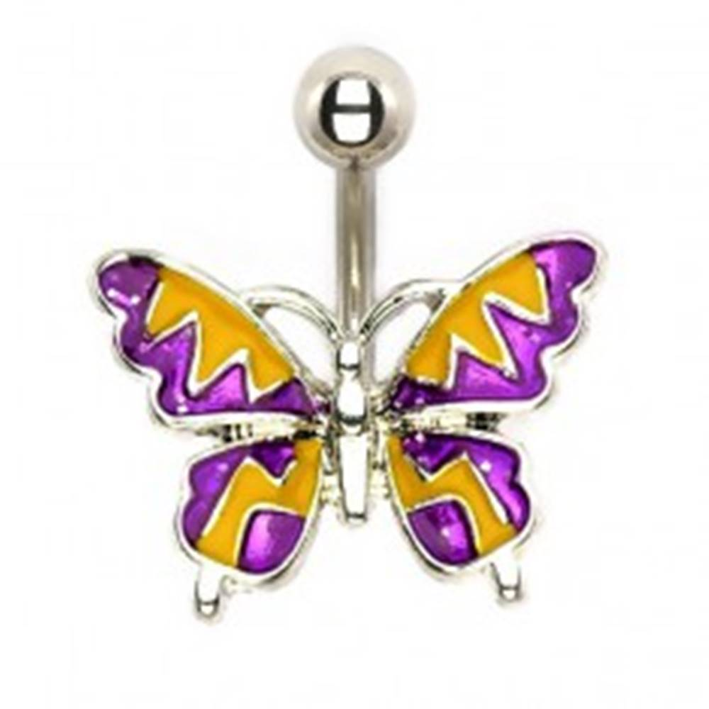 Šperky eshop Oceľový piercing - letný motýľ