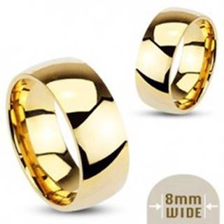 Hladká oceľová obrúčka v zlatej farbe - 8 mm - Veľkosť: 59 mm
