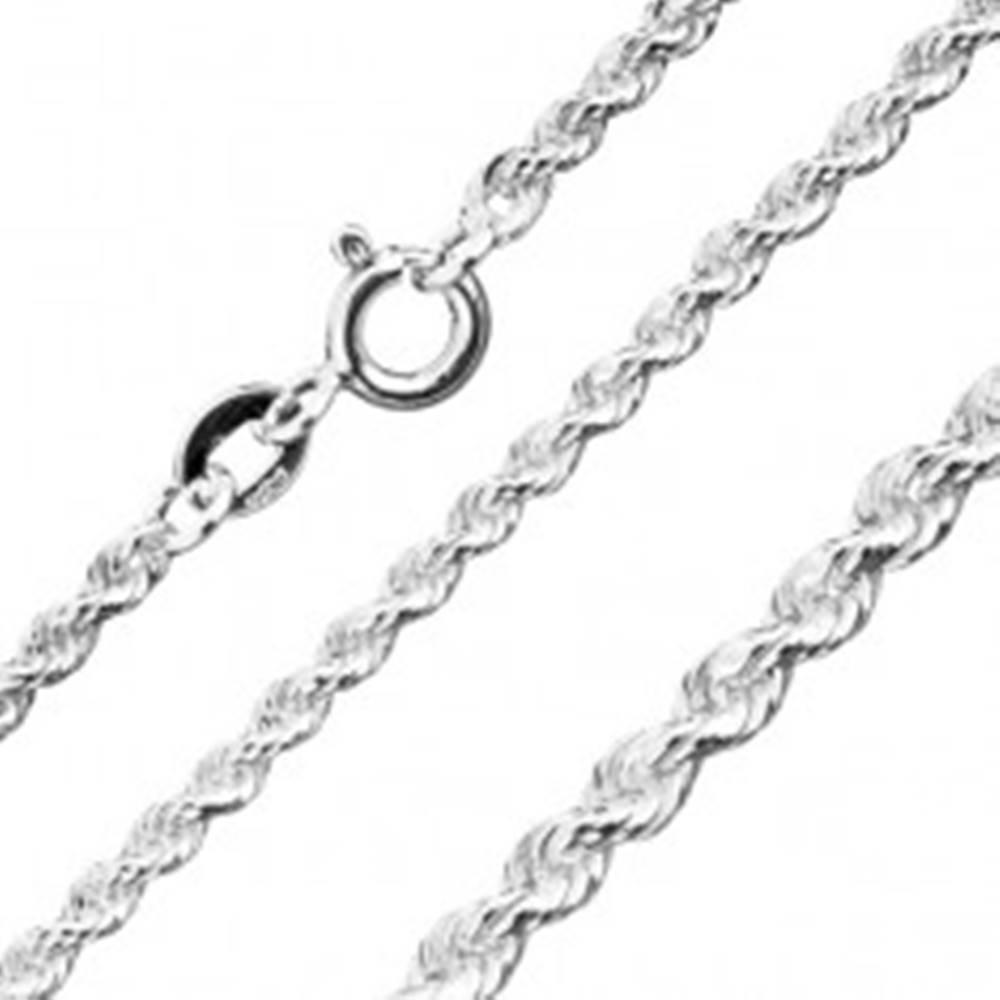 Šperky eshop Ligotavá strieborná retiazka 925 - špirálovito napájané očká, 3 mm