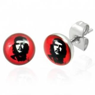 Oceľové náušnice Che Guevara 7 mm