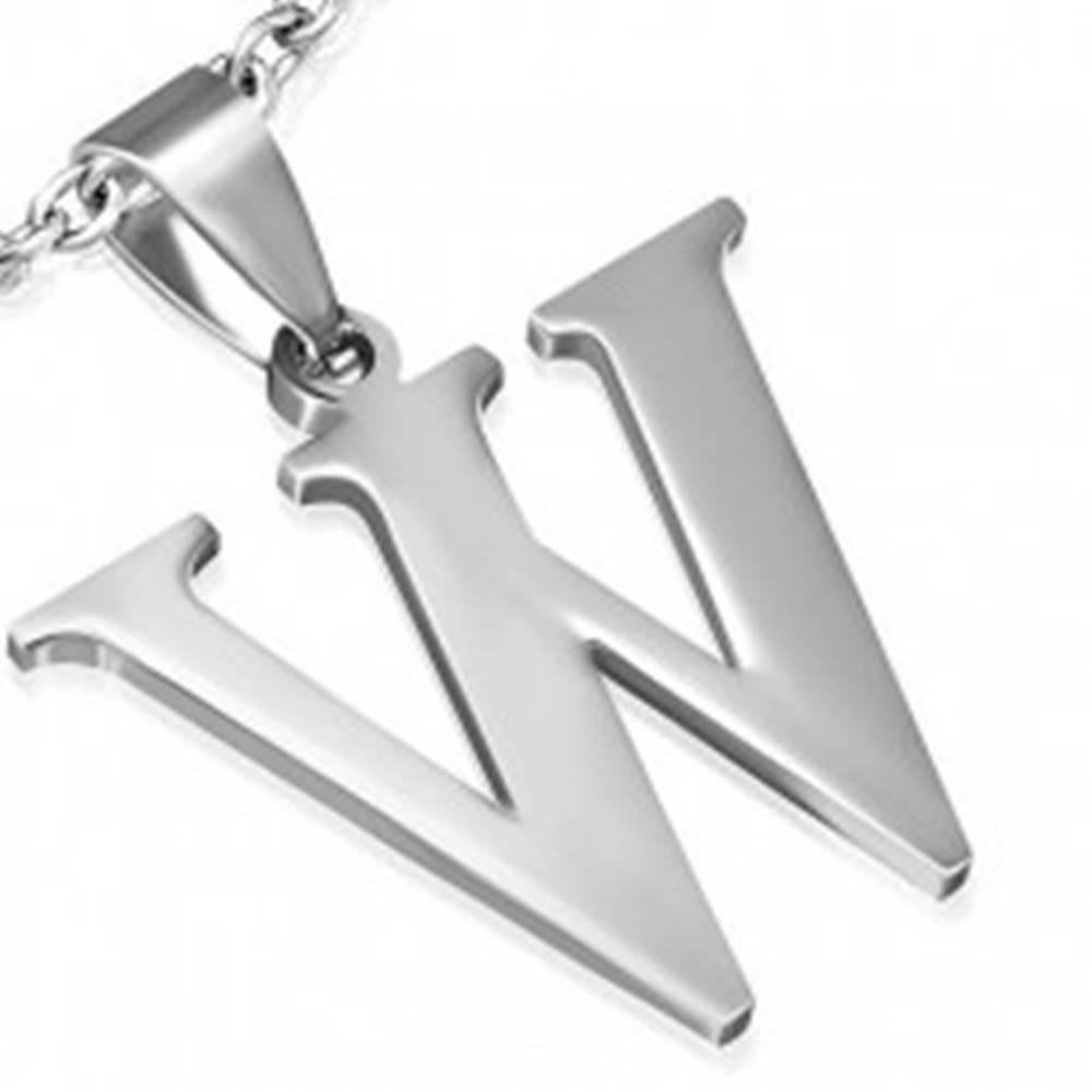 """Šperky eshop Prívesok z ocele - písmeno """"W"""""""