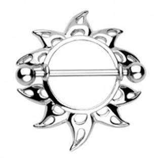 Piercing do bradavky - slnečnica so slzičkovými výrezmi, 2 kusy