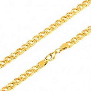 Retiazka zo žltého 14K zlata - elipsovité väčšie a menšie očko, 500 mm