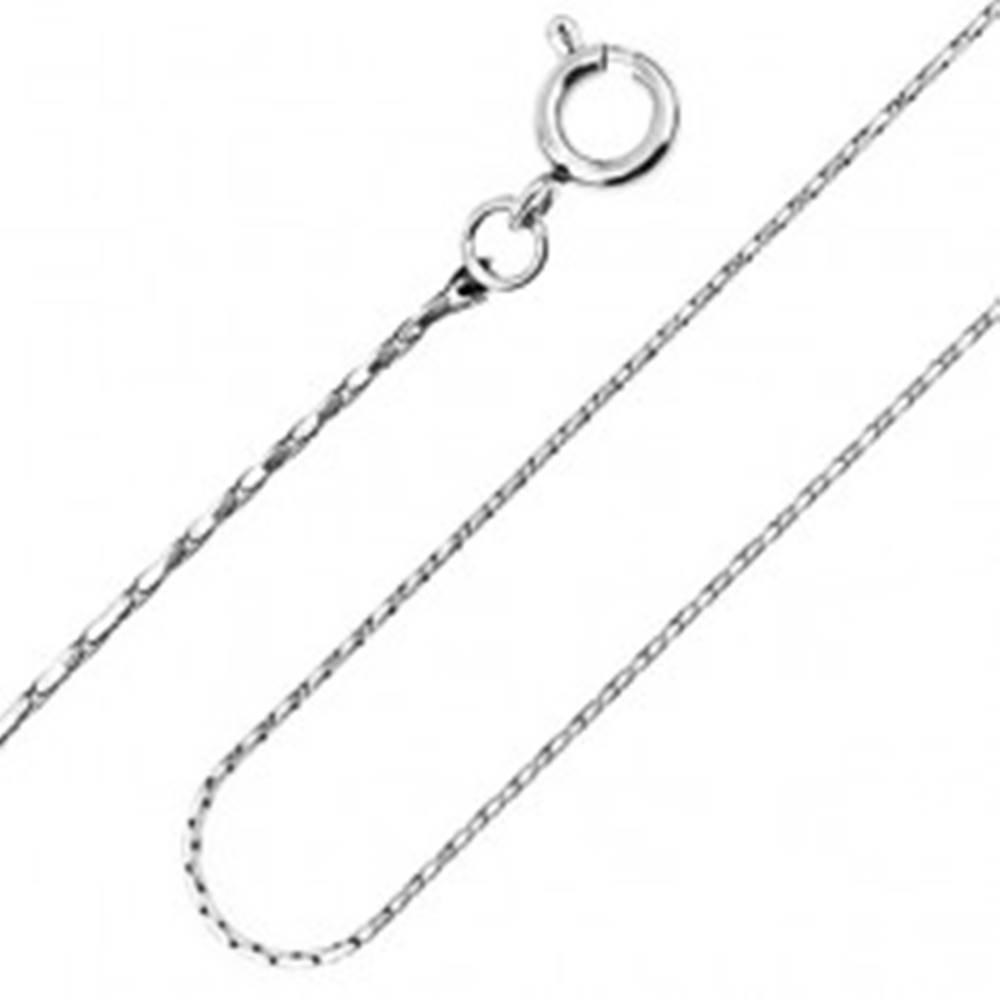 Šperky eshop Oceľová retiazka - úzke články, paličky, 1 mm