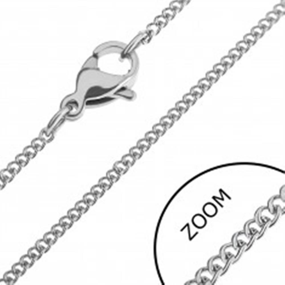 Šperky eshop Retiazka z ocele - drobné oválne zatočené články - Hrúbka: 1,2 mm
