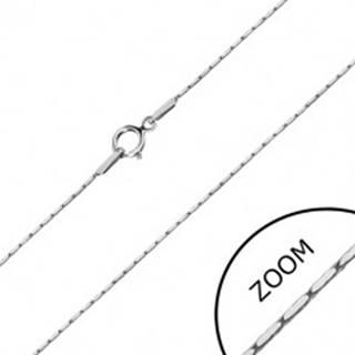 Retiazka v bielom 14K zlate - obdĺžnikové články, hranatá retiazka, 500 mm