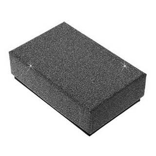 Čierna darčeková krabička na set alebo náhrdelník - trblietavý povrch