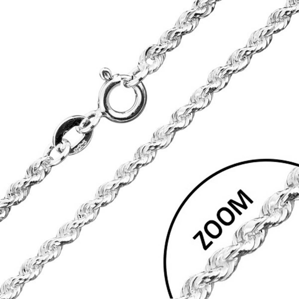 Šperky eshop Retiazka zo striebra 925, špirálovo spájané očká, šírka 1,8 mm, dĺžka 550 mm