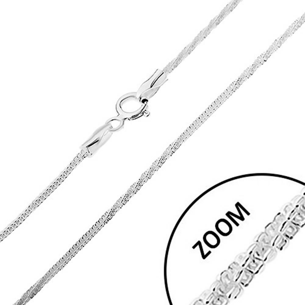 Šperky eshop Strieborná 925 retiazka, vzor hadík - rovné a stočené časti, šírka 1,7 mm, dĺžka 500 mm