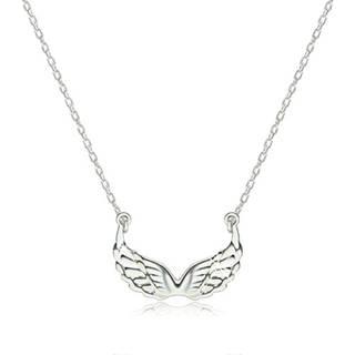 Strieborný 925 náhrdelník - lesklé vyrezávané anjelské krídla