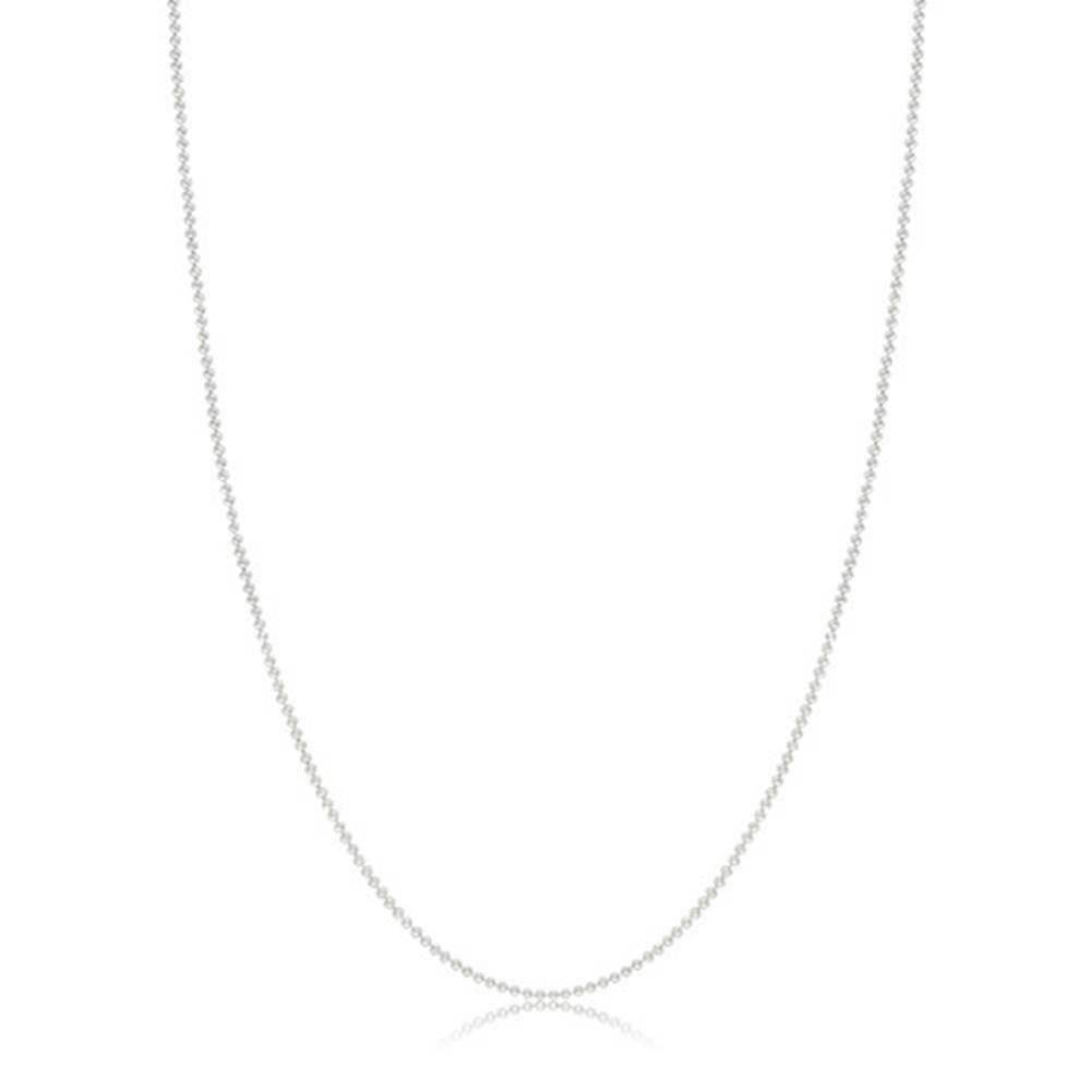 """Šperky eshop Lesklý náhrdelník zo striebra 925 - známka s nápisom """"love"""", guličková retiazka"""