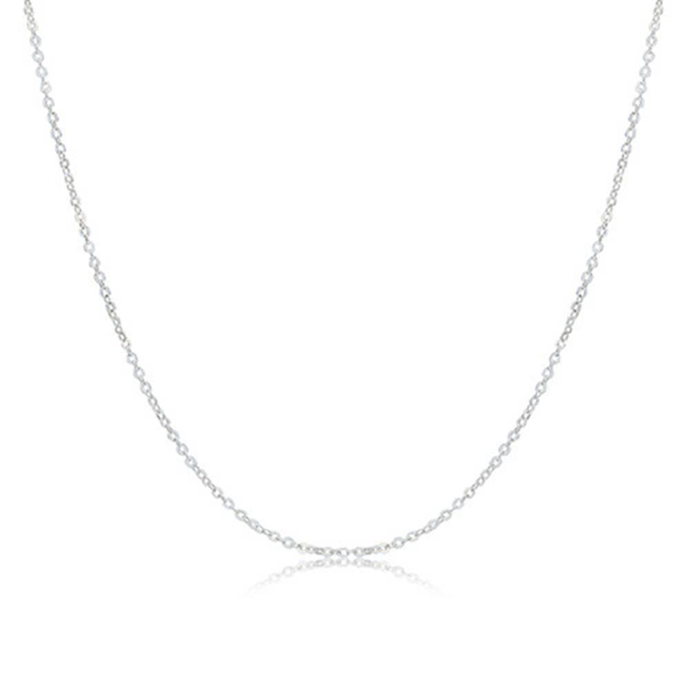 """Šperky eshop Náhrdelník ze striebra 925 - lesklý list """"Monstera"""" se zárezmi a hladká gulička"""