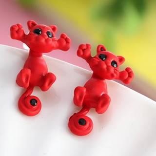 Náušnice Kitty Cat - Červená