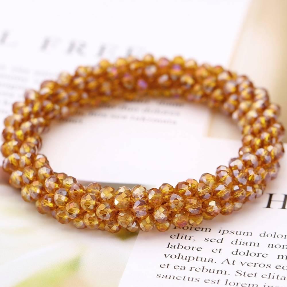 Izmael Náramok Beads-Hnedá