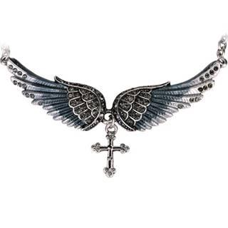 Náhrdelník Angel Cross-Čierna